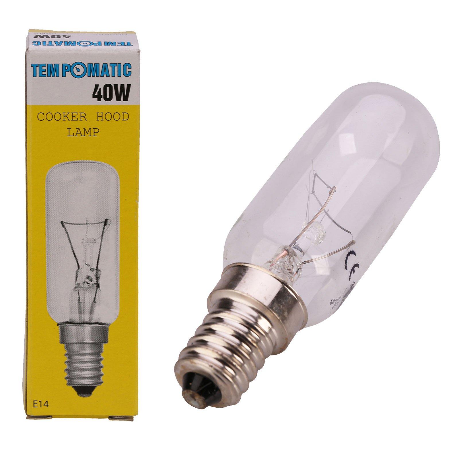 Qualtex E14 40W SES - Bombilla para campana extractora 1 pack transparente: Amazon.es: Grandes electrodomésticos
