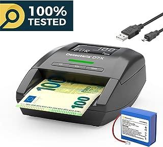 Detectalia D7X - Detector de billetes falsos, batería de