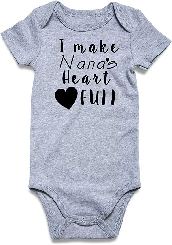 Cutemefy Baby Boys Girls Bodysuit Funny Infant Romper Jumpsuit Short And Long Sleeve Unisex Outfit Clothes 0 18 Months