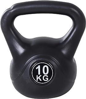 benzoni Kettlebell per Allenamento 10 kg in PVC e Sabbia Nero