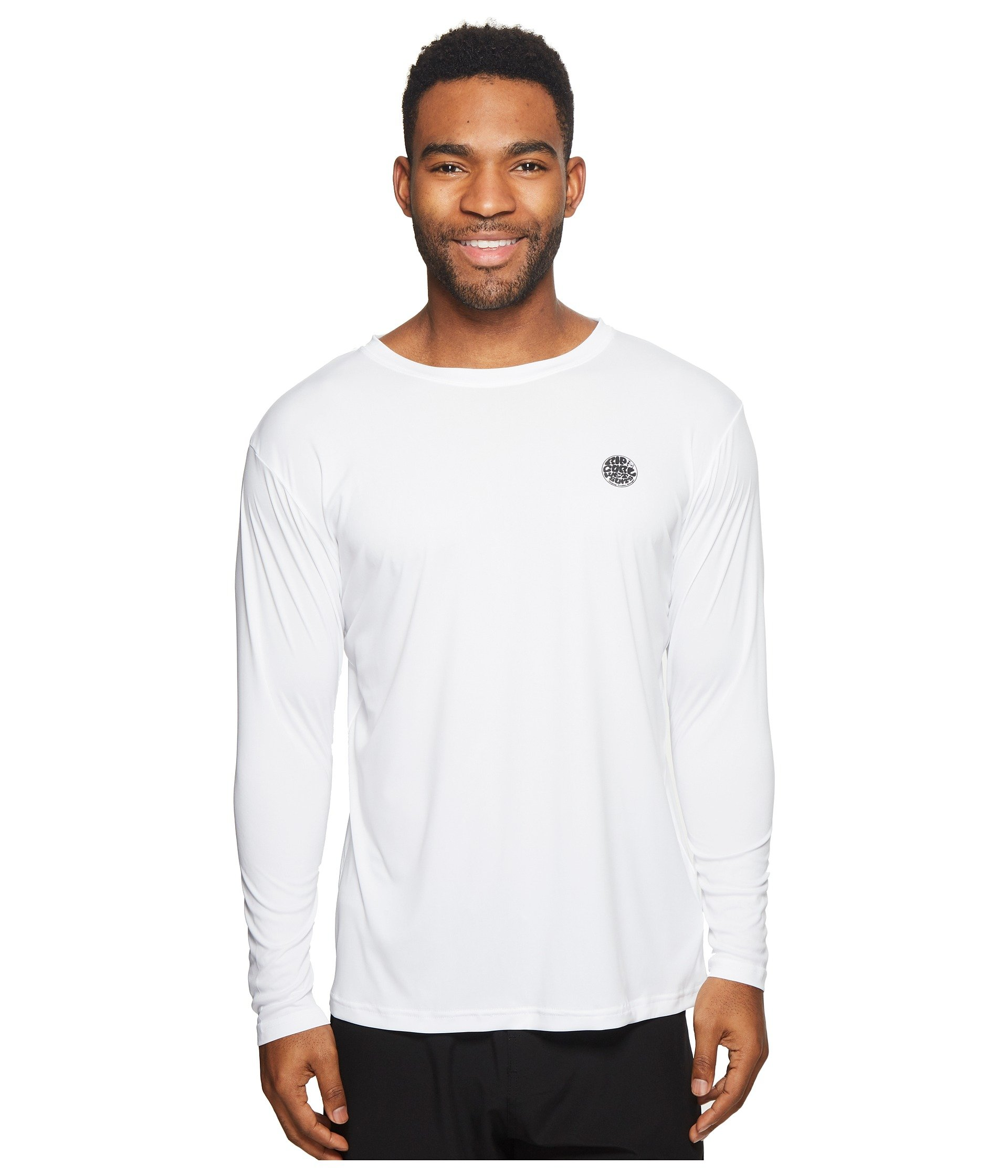 White Rip Long Search Curl Sleeve Tee Surflite Uv 0w08S