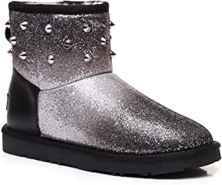 UGG Boots Sheepskin Sequins 100% Wool Inner Ladies Women Winter Shoes - Black