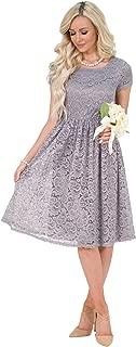 Clothing Jenna Modest Lace Dress, Modest Bridesmaid Dress or Modest Prom Dress