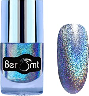 Beromt Holographic Nail Art, Hologram Effect Nail Art, Party Girl Nail Paint, Blue, 507, 10 ml