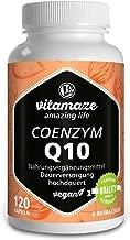 Coenzima Q10 200 mg per capsula - vegano - 120 capsule per 4 mesi - la migliore biodisponibilità - Prodotto in Germania - senza stearato di magnesio