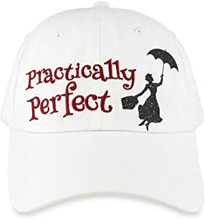 Disney Mary Poppins Practically Perfect Baseball Cap Hat for Adults White