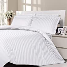 Rezlan - White Duvet Cover Set (4 pieces) King size soft luxurious bedsheet quilt cover and pillow cases - Duvet Cover: 22...