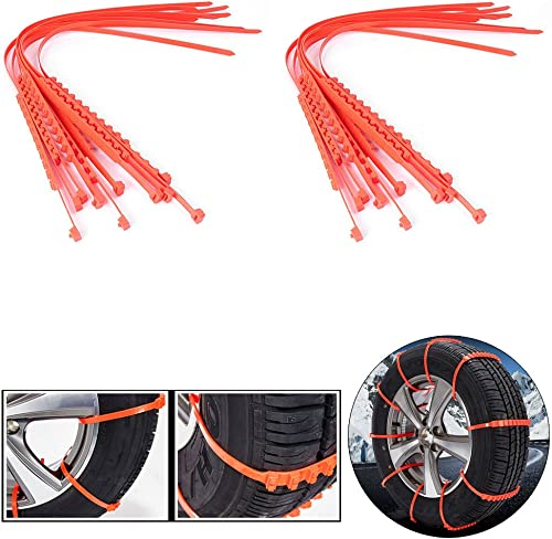 popular Mallofusa 20Pcs 2021 Anti Snow Chain of Car, Universal Fit outlet sale Anti-Skid Cable Tire Mud Snow Chains Compatible for Car SUV ATV Jeep Honda Toyota Ford VW online sale