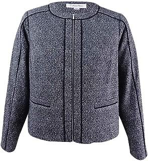 Best calvin klein zip front tweed jacket Reviews