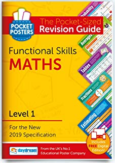 Functional Skills Maths (Level 1) | Pocket Posters: The Pocket-Sized Maths Revision Guide | Level 1 Specification | FREE d...