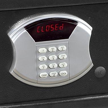 Honeywell Safes & Door Locks - 5105 Low Profile Steel Security Safe with Hotel-Style Digital Lock, 1.14-Cubic Feet, Black