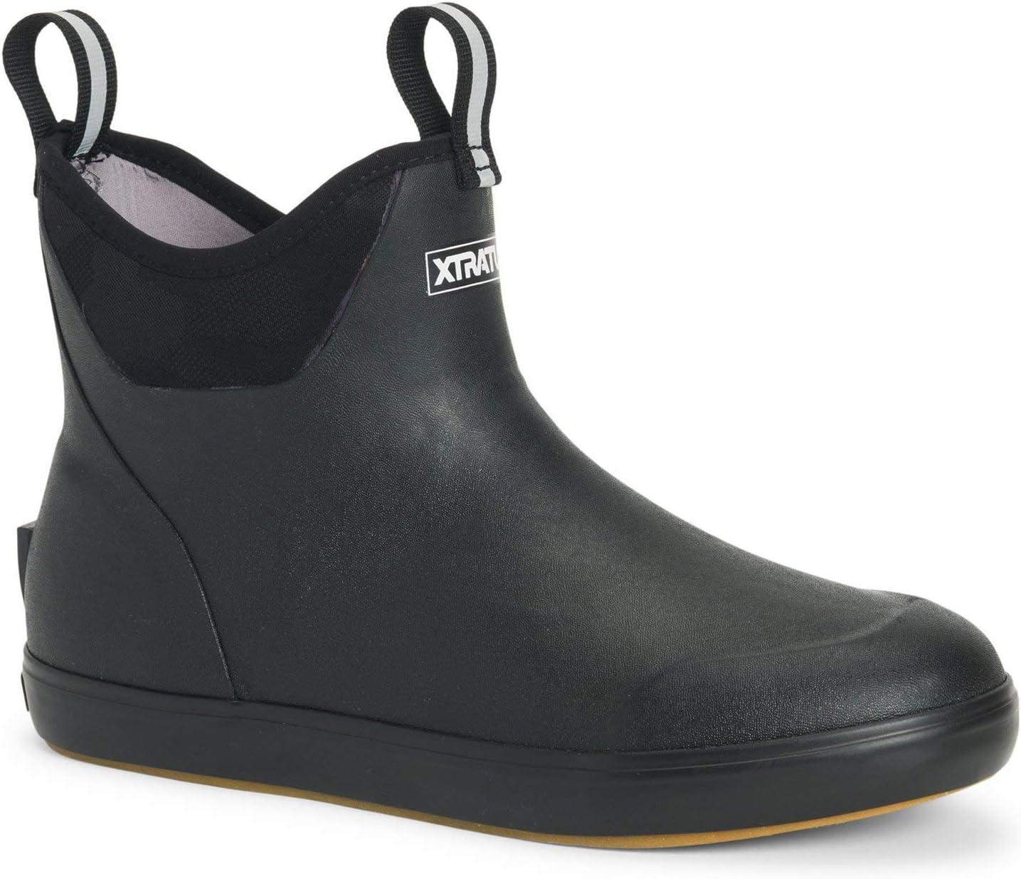 Xtratuf Men's 6 in Ankle Deck 2021 new 14 Award-winning store Camo Boot Black