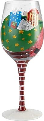 Lolita Holiday Wine Glass with Westwood Gourmet Bottle Opener (Stuck Santa, 6002981)