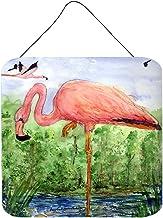 Caroline's Treasures KR9030DS66 Bird-Flamingo Aluminum Metal Wall or Door Hanging Prints, 6 x 6, Multicolor