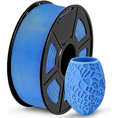 SUNLU PLA 3D Printer Filament, 1KG(2.2LBS) Spool 1.75 PLA Filament, Dimensional Accuracy +/- 0.02 mm, PLA Blue Grey