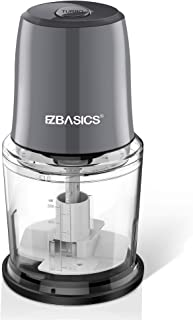 EZBASICS Food Processor, Electric Food Chopper for Vegetables, Fruits, Nuts, Ice Cubes, 2 Speed...