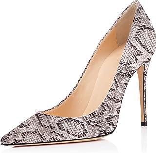 10759a7b870a2e elashe - Escarpins Femme - 10cm Sexy Talon Aiguille - Stiletto Soir Fête  Chaussures