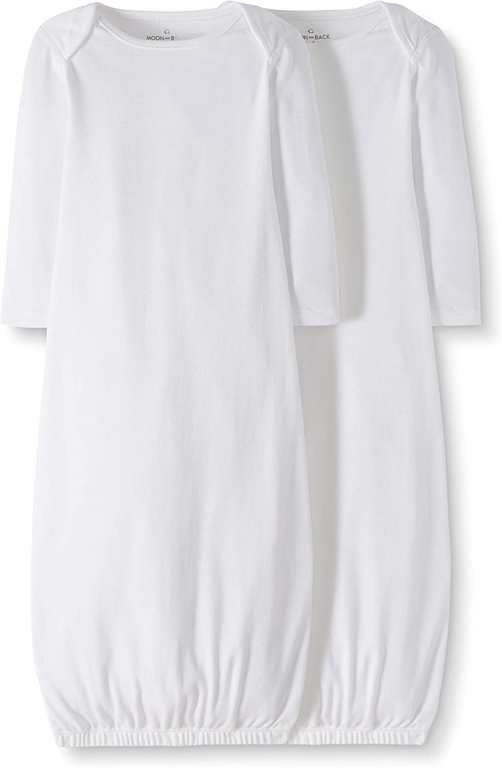 Moon and Back by Hanna Andersson Unisex Baby 2-Pack Organic Cotton Sleeper Gown