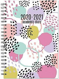 Agenda escolar 2020-2021 A5 de mitad de año académico,