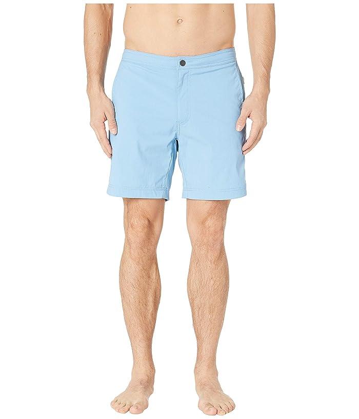 onia Calder 7.5 Swim Shorts (Vintage Blue) Men