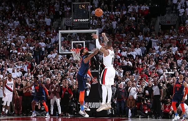 HandTao Damian Lillard 篮球明星布艺布墙海报照片打印 36x24 英寸