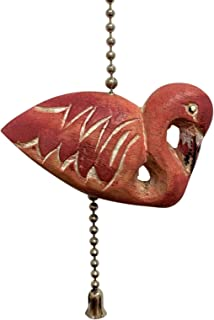 MTI Pink Flamingo Ceiling Fan Pull Painted Carved Wood