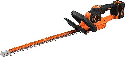Black+Decker BCHTS3625L1-QW heggenschaar (36 V, 2,5 Ah, 55 cm meslengte, met antiblokkeerfunctie, 22 mm snijdikte, ideaal ...