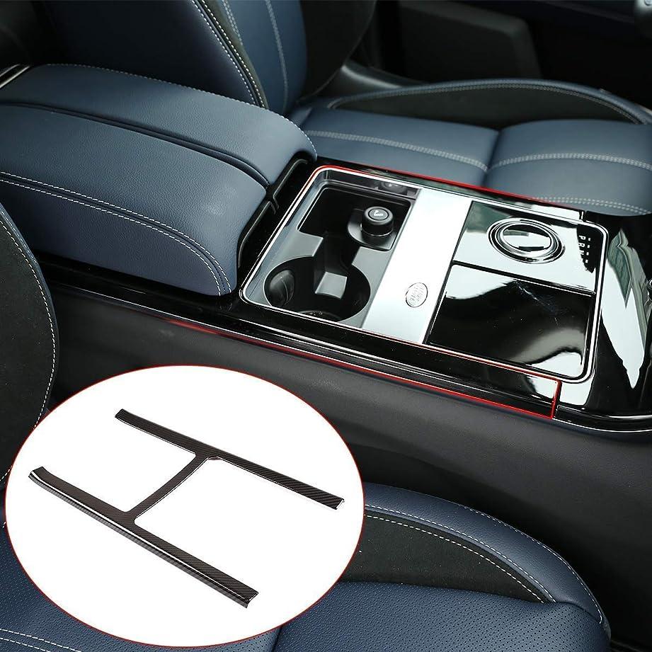 スーダンベーコン負車のABSカーボンファイバーセンターコンソール保護装飾フレームに適していますランドローバーレンジローバーヴェラー2017 2018 2019 HANBUN