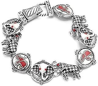 Elephant Houndstooth Magnetic Clasp Bracelet