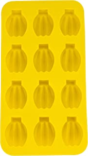 Fairly Odd Novelties FON-10017 Banana Shape Flexible 12 Ice Cube Tray Mold Yellow Rubber Novelty Gag Gift, One Size,