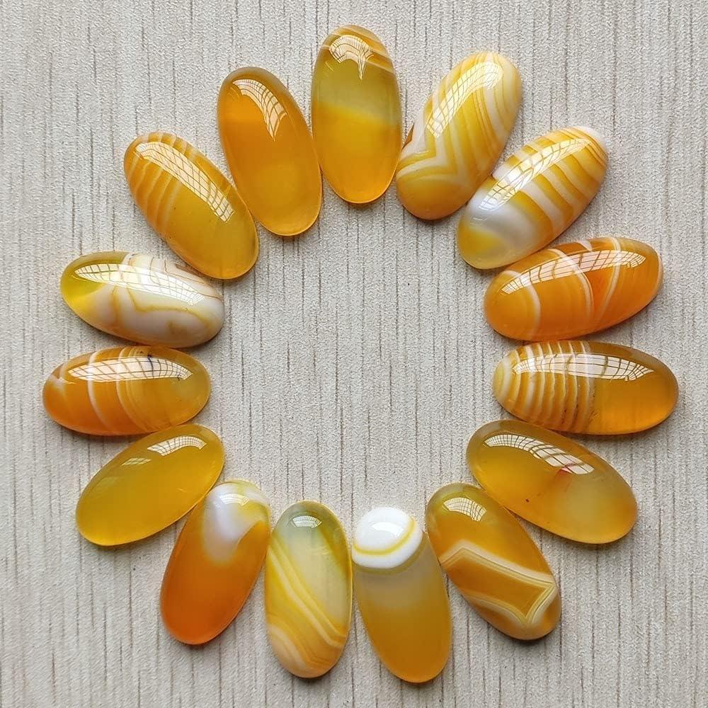 Free shipping FC-01972 DIY-Jewelry 20pcs Lot Natural S Washington Mall Onyx Yellow Oval Stripe
