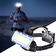 Hoofd Zaklamp COB LED Vissen Koplamp Camping Koplampen Gebruik 3 * 18650 Batterij Hoofd Lamp Zaklamp