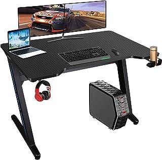 Bureau Gaming 100 * 60cm Bureau Gamer avec Télécommande RGB LED Lights Bureau pour Gaming PC Informatique Table Desk avec ...