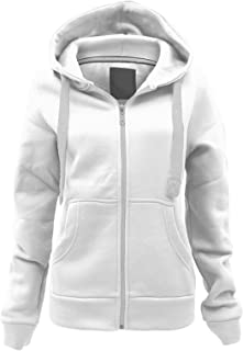 23418cf6f Parsa Fashions ® Ladies Plain Hoodie Womens Long Sleeves Zip Hoodie Zipper  TOP Hooded Jacket with