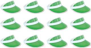 Beistle 60313-G 12-Pack Clear Green Plastic Dealer's Visor