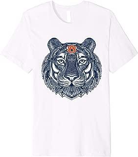 Auburn Tigers Mandala Pattern T-Shirt - Apparel