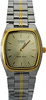 Casio Mens Stainless Steel Analog Watch Two Tone w/ Gold Dial - MTP-1169G-9A