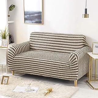 UTDFEOPSG Funda de Sofa Elasticas2 plazas, Bubble Full Cover Funda para sofá, Sofa Cushion Funda elástica para Silla con reposabrazos Proteger Slipcover marrón 145-185CM (57-73inch)