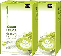 LOOKAS 9 Nine Green Tea Latte 60T Coffee Mix Korea Namyang French Cafe