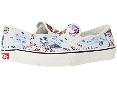 Vans Slip-On SF ((Kide) Classic White/Marshmallow) Shoes