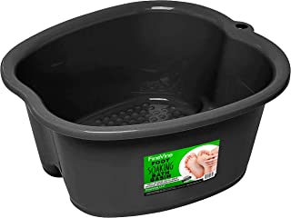 Foot Soaking Bath Basin – Large Size for Soaking Feet | Pedicure and Massager Tub for At Home Spa Treatment | Relax and Add Hot Water, Epsom Salts, Essential Oils | Callus, Fungus, Dead Skin Remover