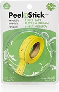iCraft PeelnStick Removable Ruler Tape, 1/2