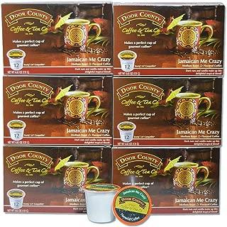 Door County Coffee, Single-Serve Cups for Keurig Brewers, Jamaican Me Crazy, 72 Count