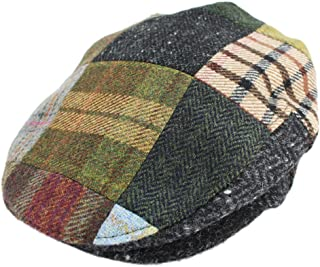Biddy Murphy Irish Caps for Men Tweed Flat Cap Patchwork 100% Wool Made in Ireland