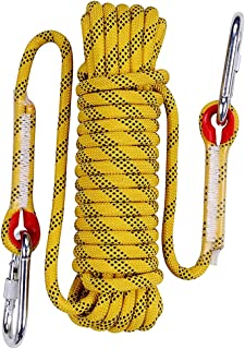 Aoneky 10 mm Static Outdoor Rock Climbing Rope, Fire Escape Safety Rappelling Rope