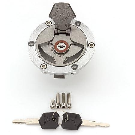 FXCNC Racing Motorcycle Gas Cap Fuel Tank Cap With Key Lock Set Fit For HONDA CBR250 VTR250 CB750 CB1300 X4 CBR250R 11-13 CB300F CB500//CB500X//CBR500R CBR300R 13-15