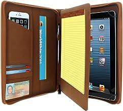 KHOMO Universal Tablet Padfolio Case Zippered برای تبلت های 8.5 '' تا 11 '- قهوه ای - سازگار با iPad Air ، Pro 11 و بسیاری دیگر