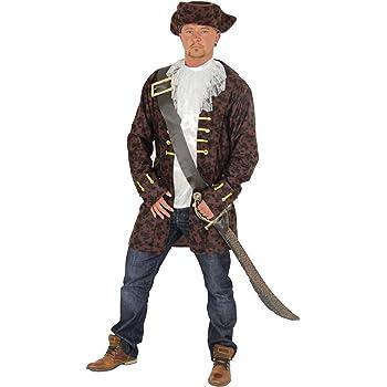 Foxxeo Noble Disfraz de Pirata para Hombre con cinturón y Sombrero ...