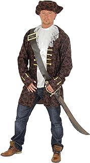 Helymore Halloween Uomo Costume da Capitano dei Pirati Giacca da Pirata Deluxe Costume Cosplay del Film Set Completo Multi Versioni