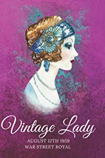 VINTAGE LADY August 12th 1959 war street royal: VINTAGE NOTEBOOK